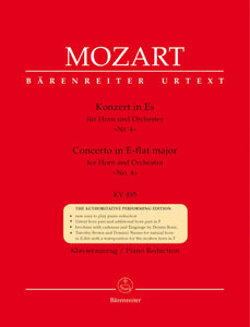 Mozart: Concerto No 4 in E Flat K495 for Horn & Piano
