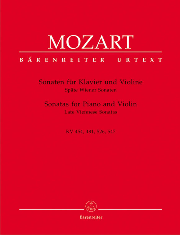Mozart: Late Viennese Sonatas for Violin & Piano