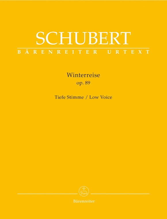 Schubert: Winterreise Op 89 D 911 for Low Voice