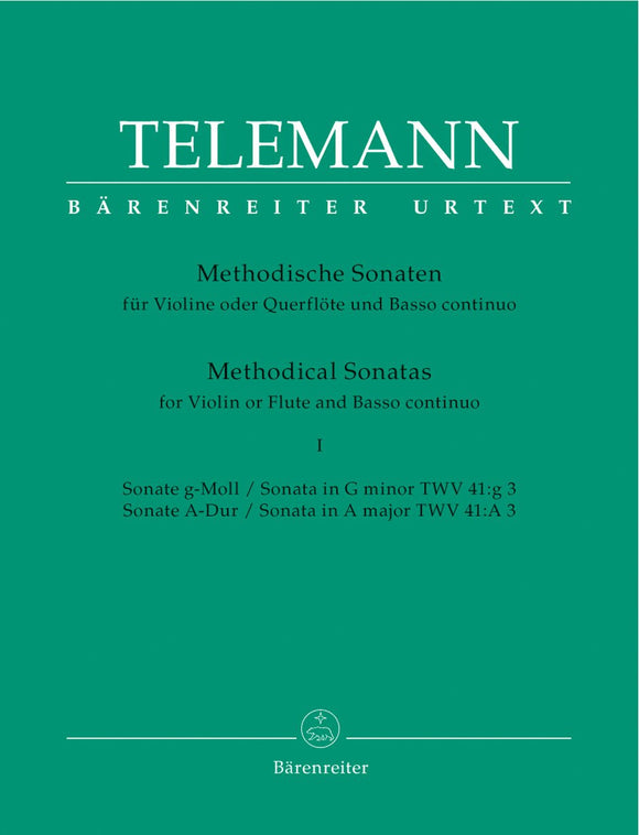 Telemann: Twelve Methodical Sonatas for Flute & Piano - Volume 1