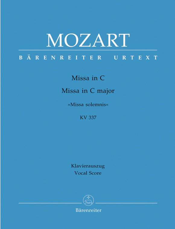 Mozart: Missa Solemnis in C K337 - Vocal Score