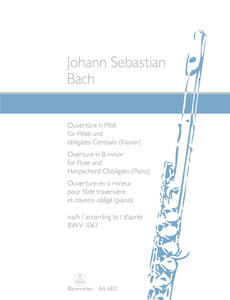 Bach: Orchestral Suite No 2 B for Flute & Keyboard