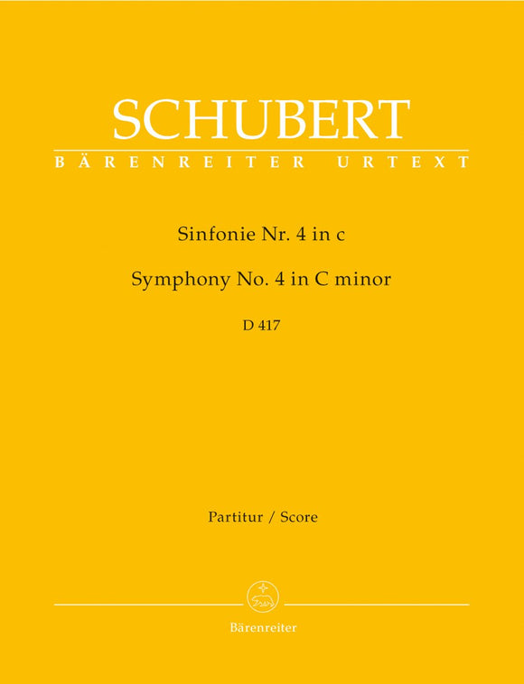 Schubert: Symphony No 4 in C D417 - Full Score