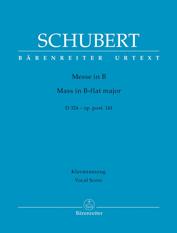 Schubert: Mass in B Flat D324 - Vocal Score