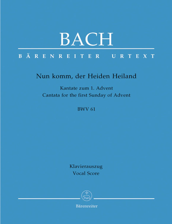 Bach: Cantata 61 - Vocal Score