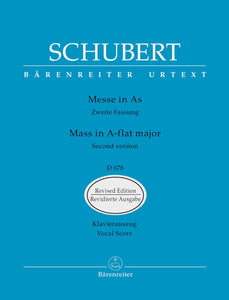 Schubert: Mass A Flat D678 2nd Verse - Vocal Score