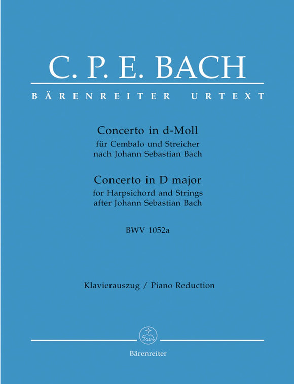 C.P.E Bach: Concerto in D Minor for Keyboard & Strings (Piano Reduction)