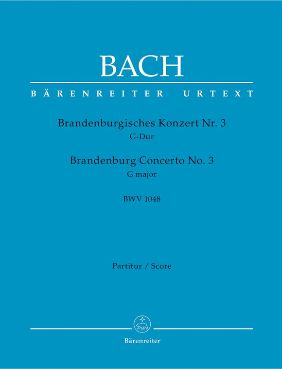 Bach: Brandenburg Concerto No 3 New Ed - Full Score