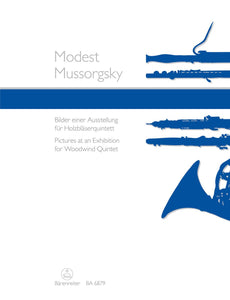 Mussorgsky: Pictures at An Exhibition Wind Quintet Score & Parts