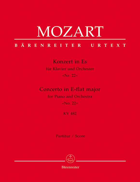 Mozart: Piano Concerto No 22 in E Flat K482 Full Score