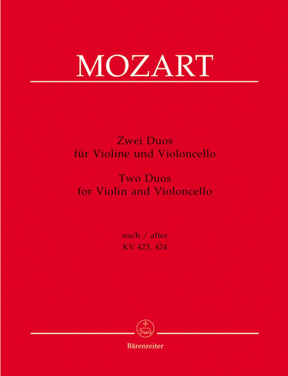 Mozart: Two Duos for Violin & Cello
