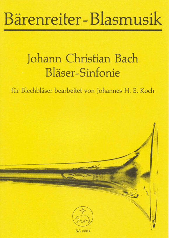 J.C Bach: Sinfonie for Brass Ensemble (Playing Score)
