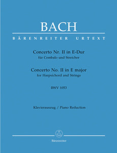 Bach: Concerto No 2 E for Harpsichord & Strings (Piano Reduction)