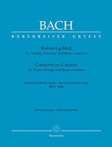 Bach: Violin Concerto in G Minor for Violin & Piano