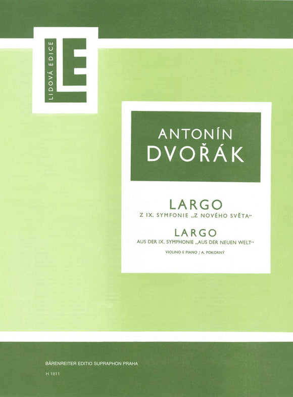 Dvořák: Largo from New World Symphony for Violin & Piano