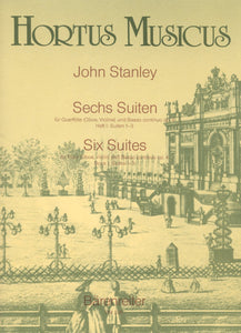 Stanley: Six Suites Op 4  1-3 for Flute & Basso Continuo