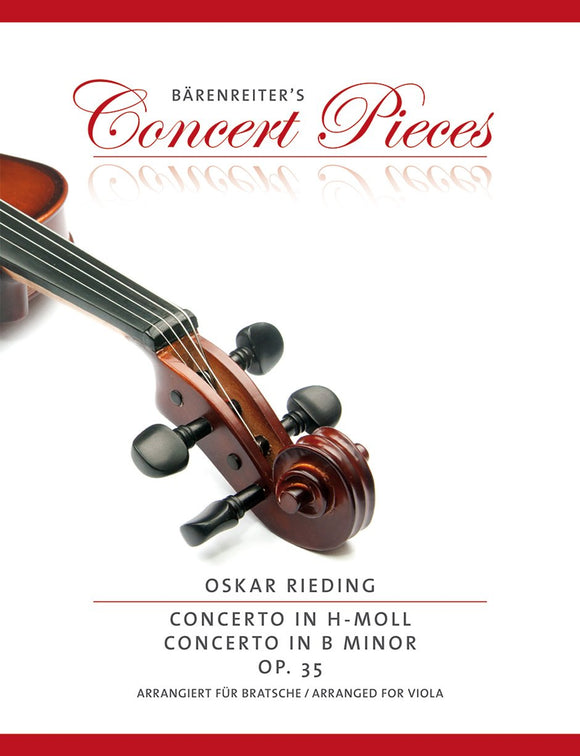 Rieding : Concerto Op 35 in B Minor for Viola & Piano