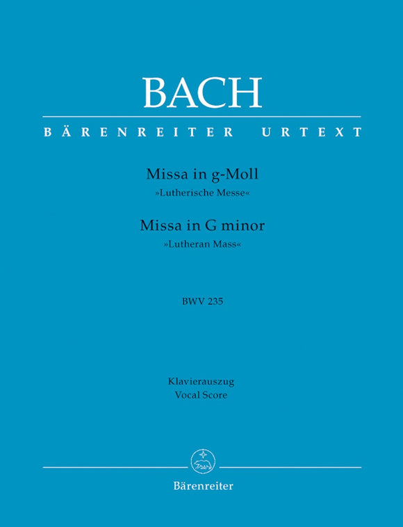 Bach: Mass in G Minor BWV235 - Vocal Score