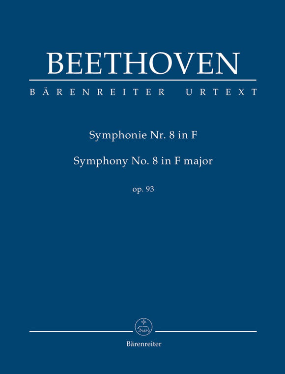 Beethoven: Symphony No 8 in F Op 93 Urtext - Study Score
