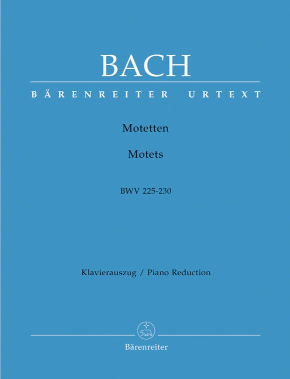 Bach: Motets BWV 225-230 - Vocal Score