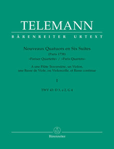 Telemann: Twelve Paris Quartets - Book 1: No 1-3 Score & Parts