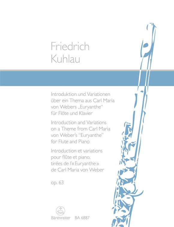 Kuhlau: Introduction & Variations Op 63 for Flute & Piano