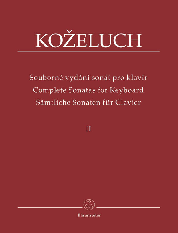 Kozeluch : Complete Sonatas for Keyboard - Vol 2