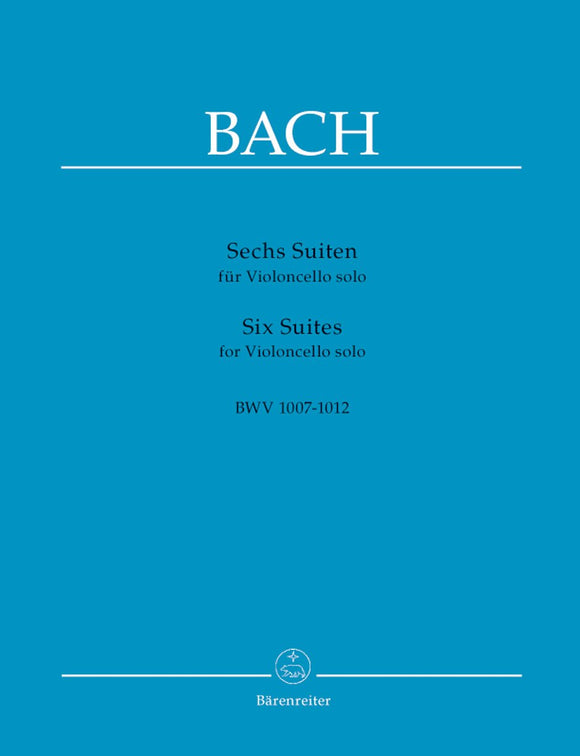 Bach: Six Suites BWV 1007-1012 for Solo Cello (Standard Edition)