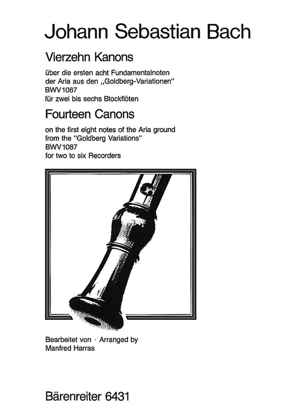 Bach: Fourteen Canons on the First 8  Notes of the Aria Ground from the
