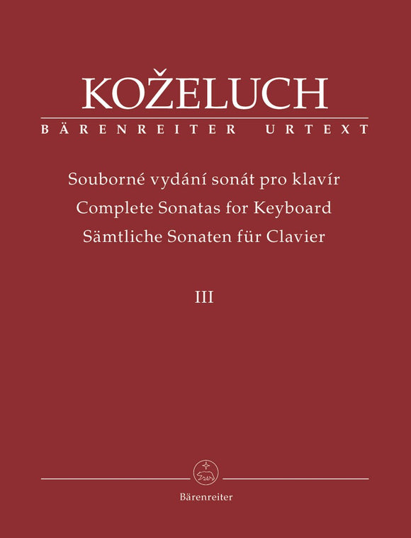 Kozeluch : Complete Sonatas for Keyboard - Vol 3