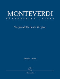 Monteverdi: Vespers of 1610 - Full Score