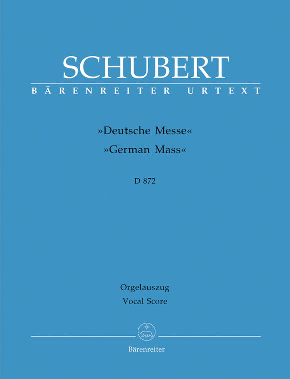 Schubert: German Mass - Vocal Score
