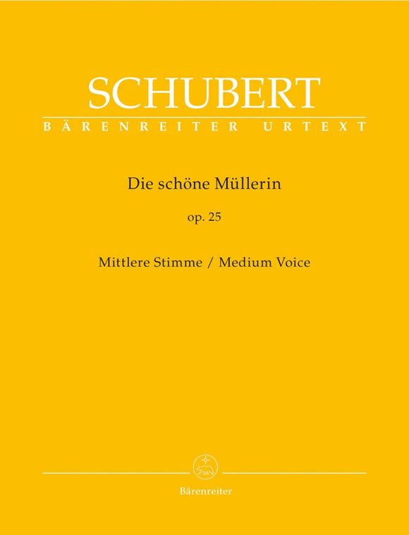 Schubert: Die Scorehone Mullerin Op 25 D 795 Medium Voice