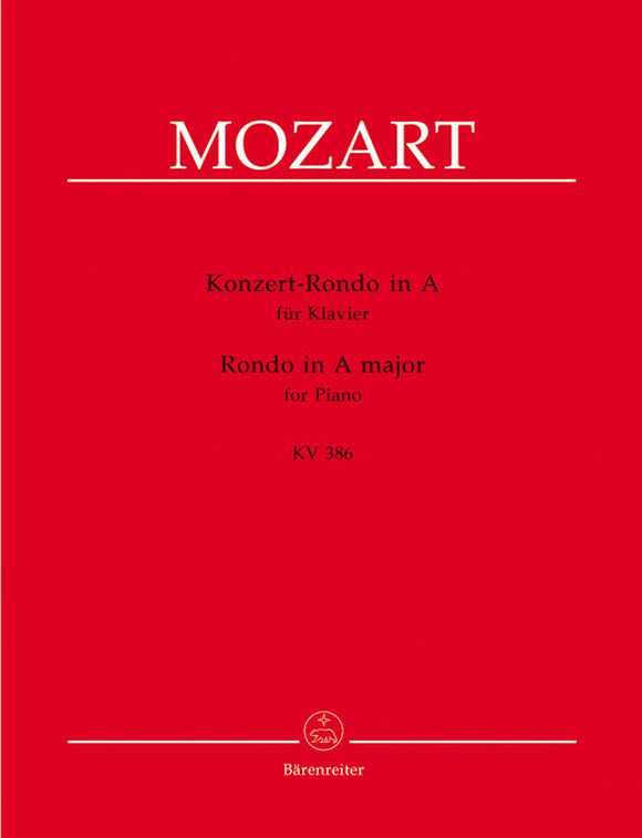Mozart: Concert Rondo in A for Piano Solo