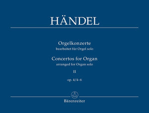 Handel: Organ Concerto Op 4 No 4-6 Manuals