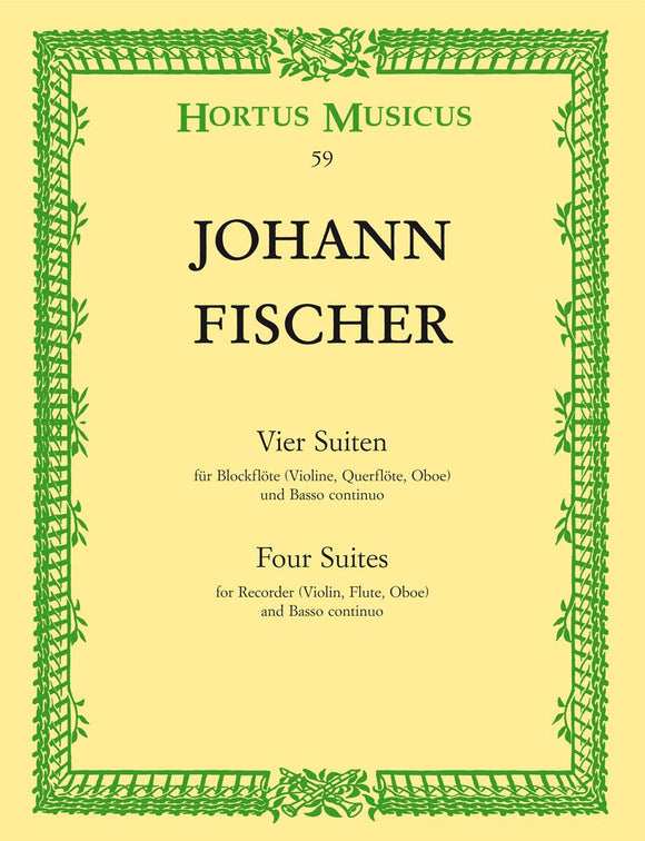 Fischer: Four Suites for Treble Recorder & Basso Continuo