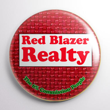 Red Blazer Realty - The Simpsons Button