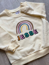 Load image into Gallery viewer, Oversized Rainbow Sweater - Cream