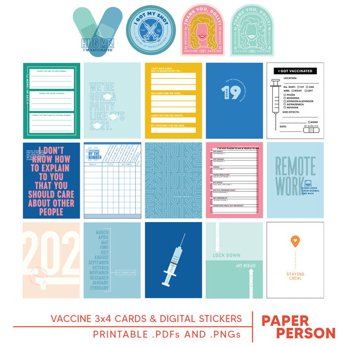 Vaccine Printable Cards & Stickers