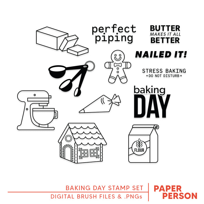 Holiday: Baking Day Digital Files