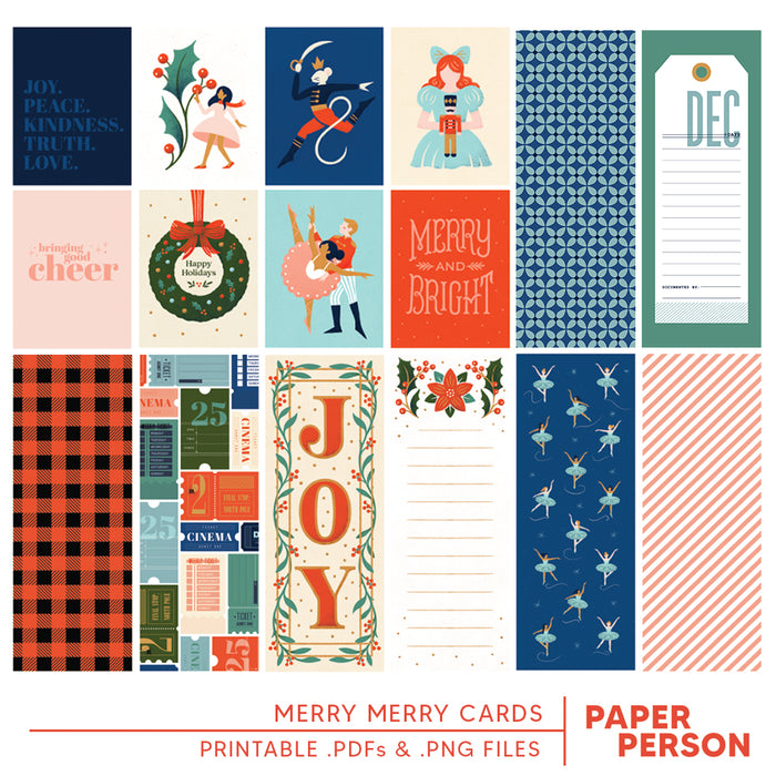 Holiday: Merry Merry Printable Cards
