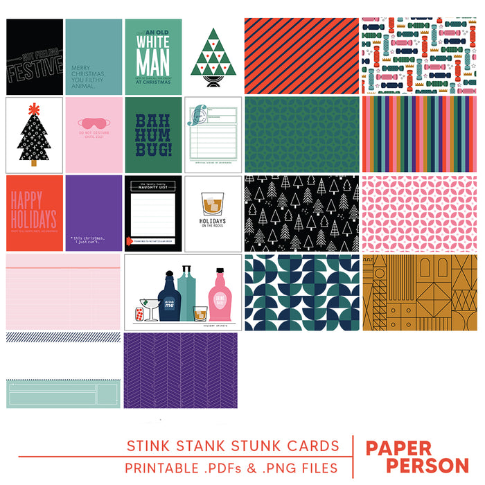 Holiday: Stink Stank Stunk Printable Cards