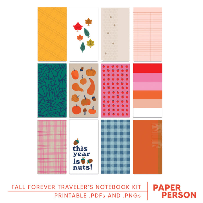 Fall Forever Printable Pages