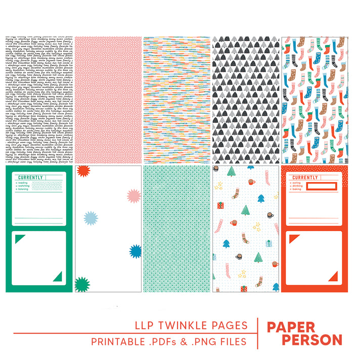 Holiday: LLP Twinkle Printable Pages