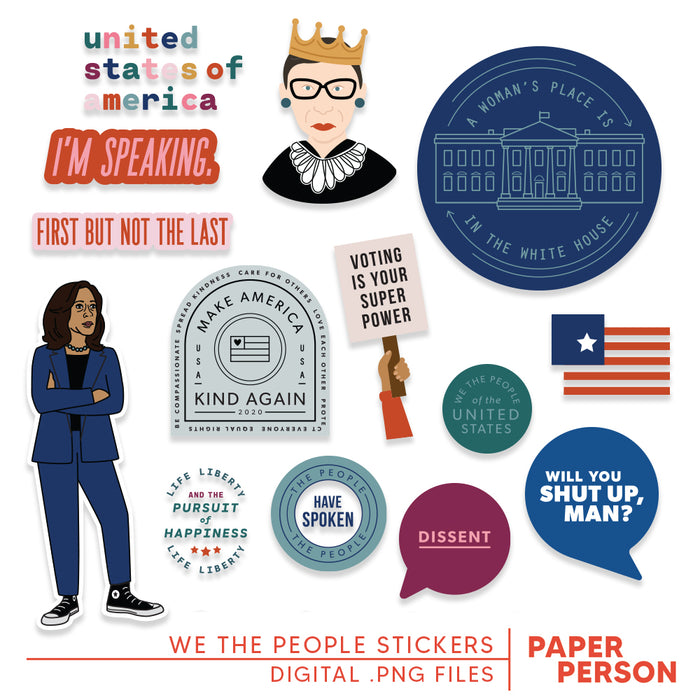 We the People Digital Stickers