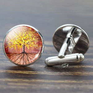 Tree of Life Cufflinks for Men Best Man Cufflinks Set Cufflinks Wedding Life Tree Suit Shirt Cuff Links Men Accessories