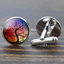 Load image into Gallery viewer, Tree of Life Cufflinks for Men Best Man Cufflinks Set Cufflinks Wedding Life Tree Suit Shirt Cuff Links Men Accessories