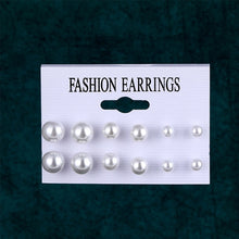 Load image into Gallery viewer, EN 12 Pairs Flower Women'S Earrings Set Pearl Crystal Stud Earrings Boho Geometric Tassel Earrings For Women 2020 Jewelry Gift