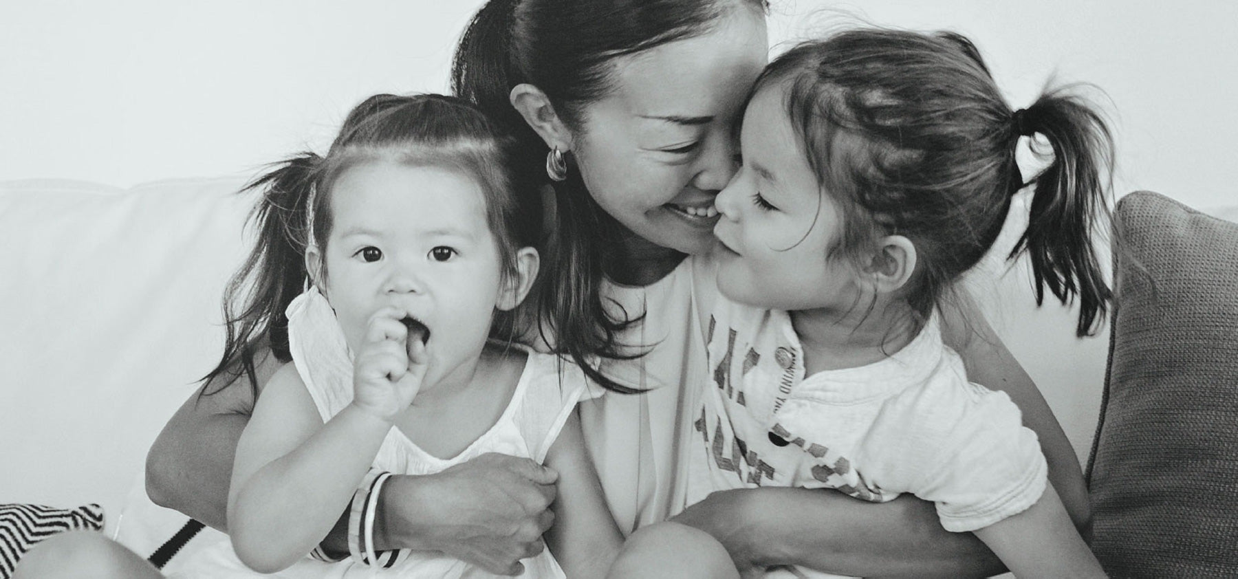 Yoko Shimada and children