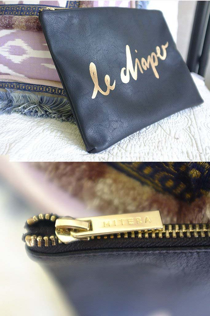 Limited Holiday Edition Black and Gold 'Le Diaper' bag